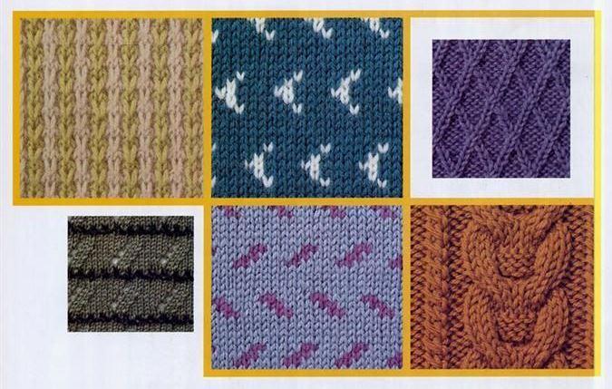Подборка образцов для вязания спицами № 2
