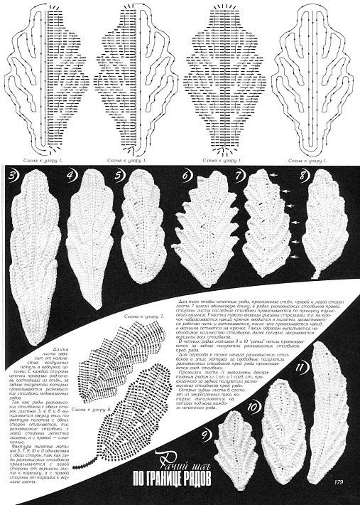 листики ирландского кружева