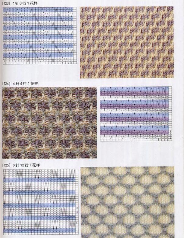 узоры вязания спицами