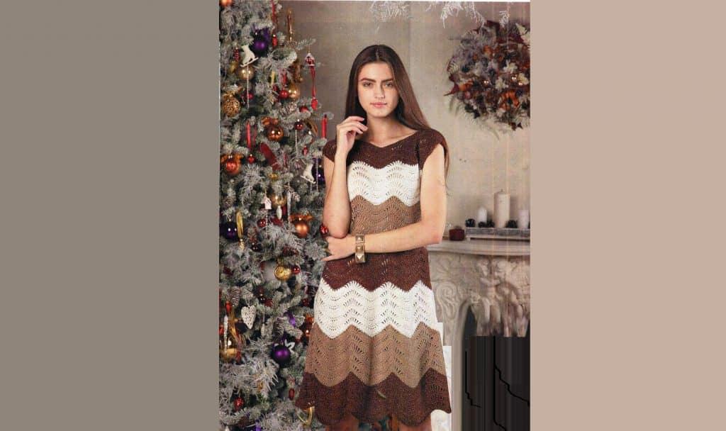 Платье с узором – Павлиний хвост