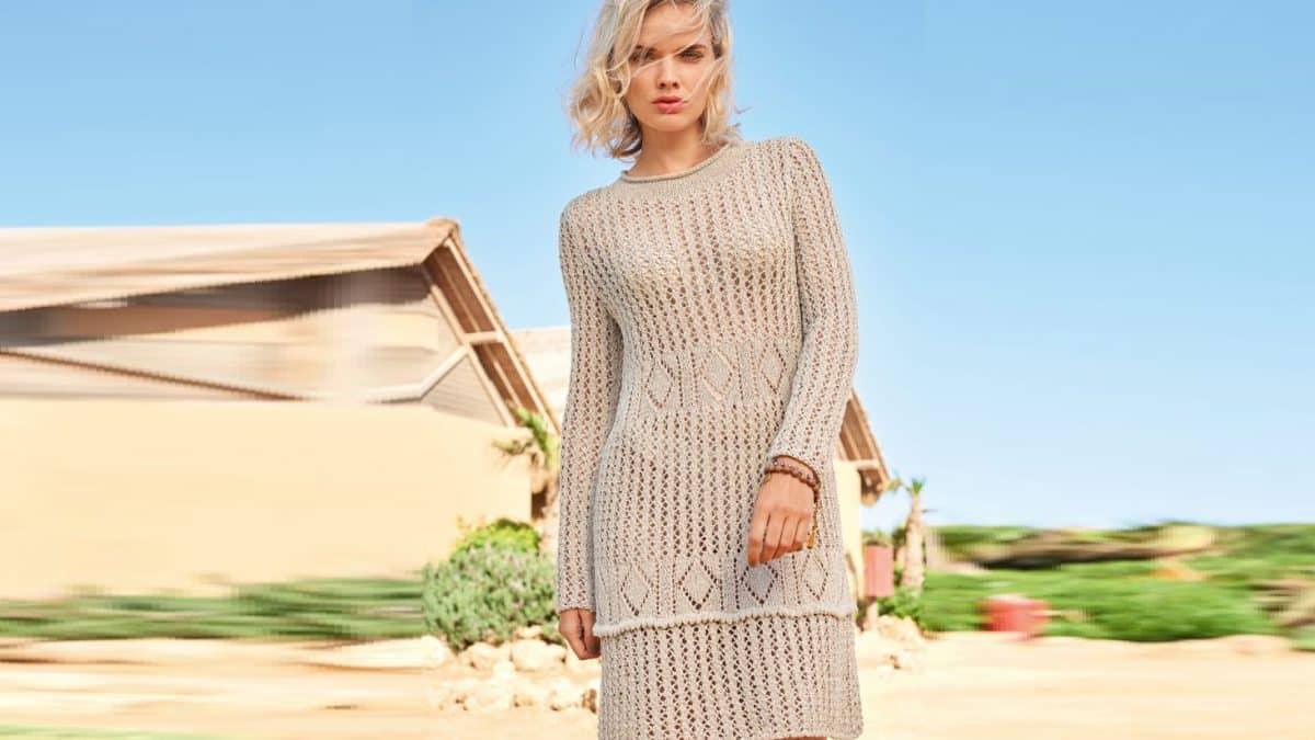 Платье сетчатым узором