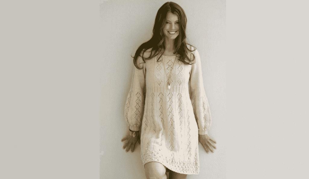 """Идеальное вязаное платье """"Нежность в простоте"""""""