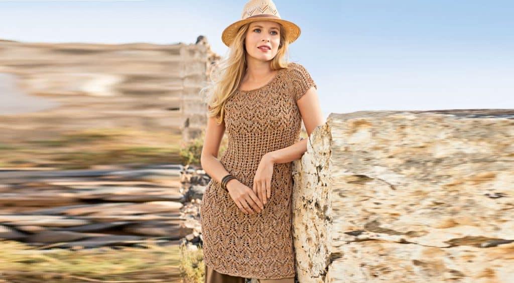Ажурное платье – туника