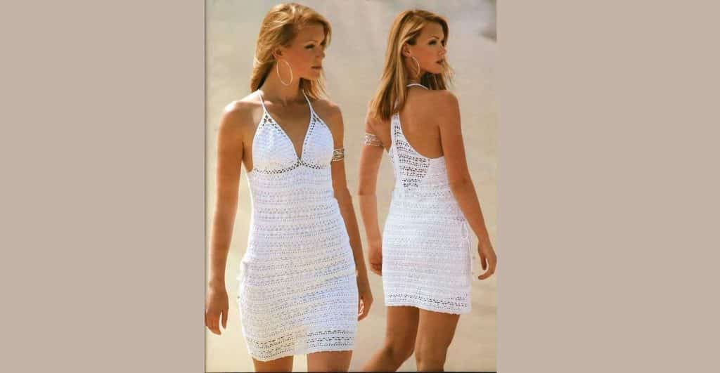 Пляжное летнее платье