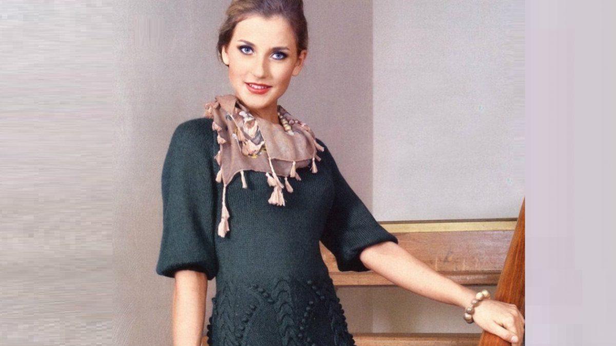 Элегантное платье с рельефным узором