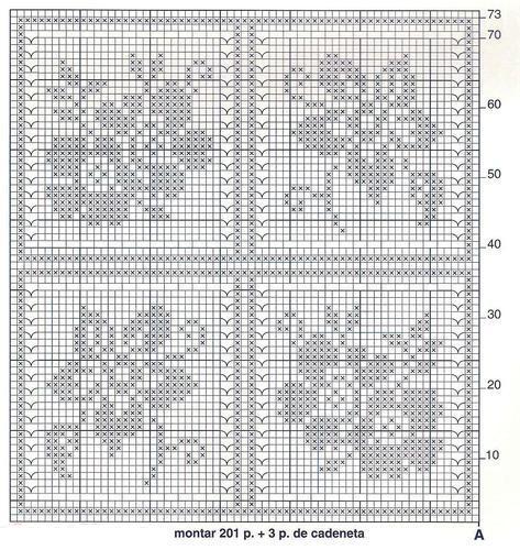 схема филейного вязания