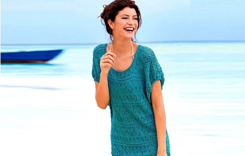 Платье – туника ажурным узором
