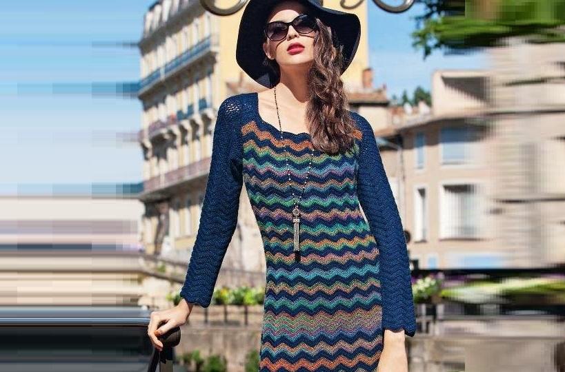 Платье в стиле Missoni крючком