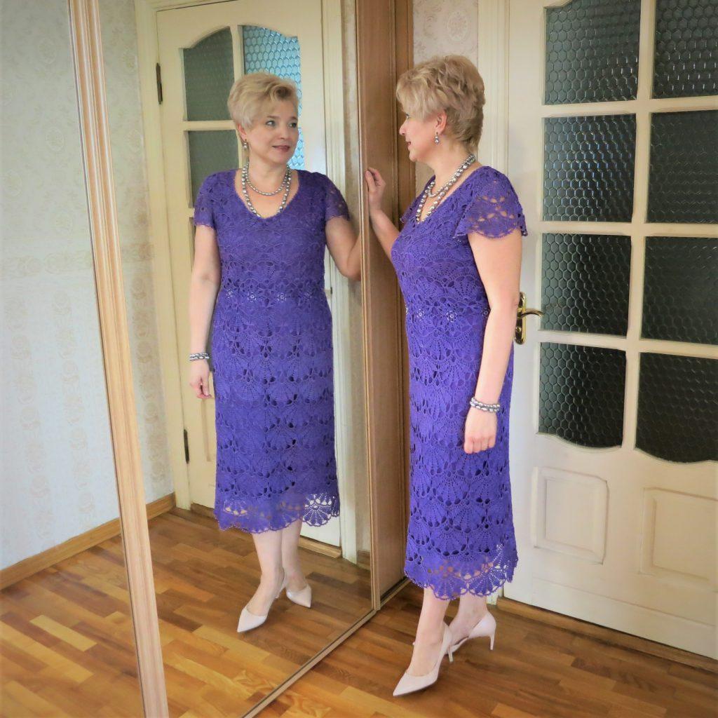 вязаное платье крючком