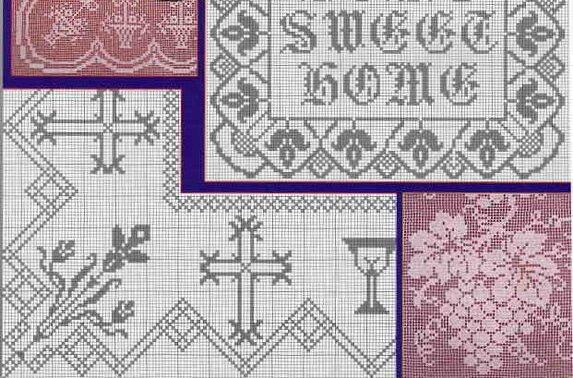 101 схема филейного вязания. Часть 2