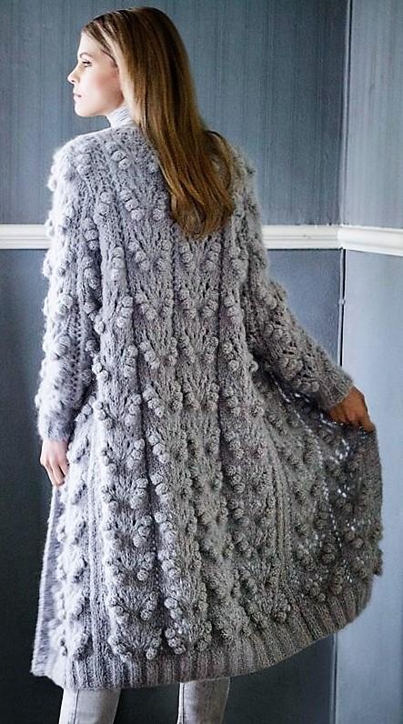вязаное пальто,