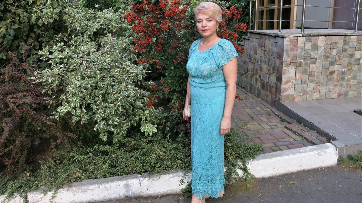 "Платье шетландскими узорами –  ""Атлантида"""