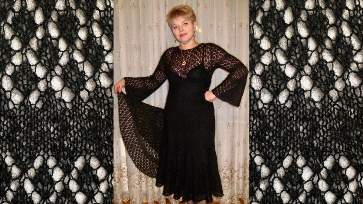 Мохеровое  платье  шетландским  узором
