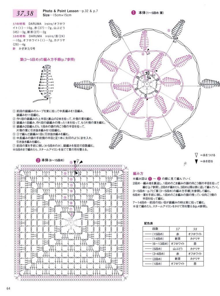 схема мотива крючком