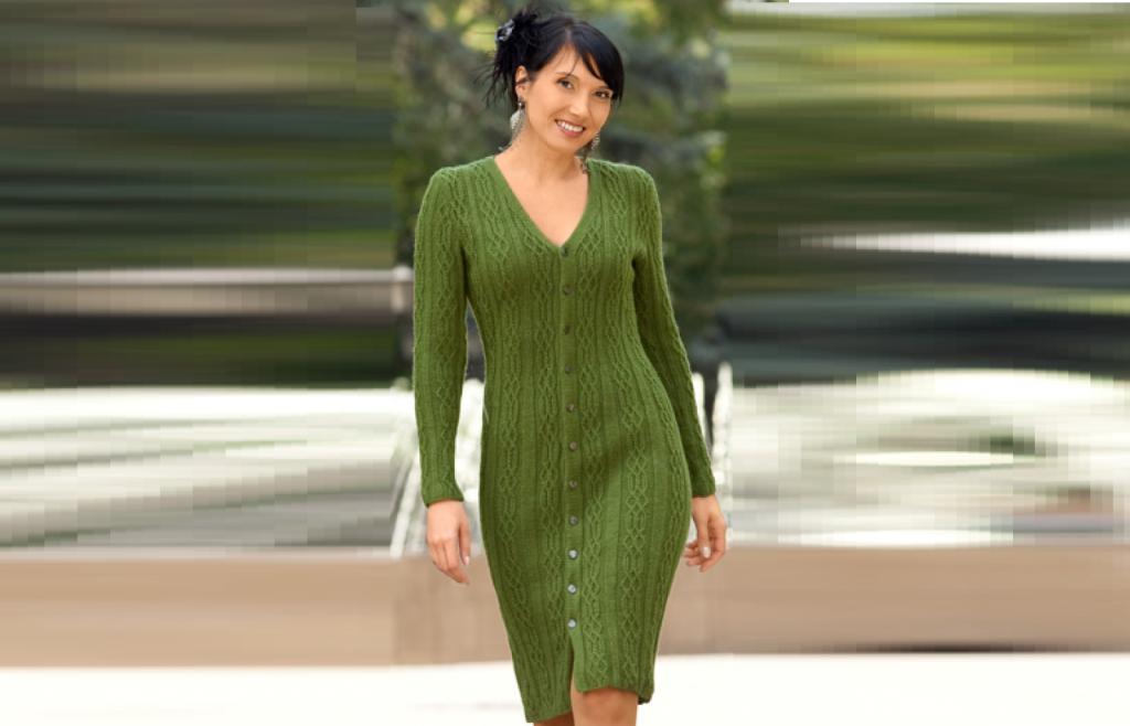 Платье рельефным узором