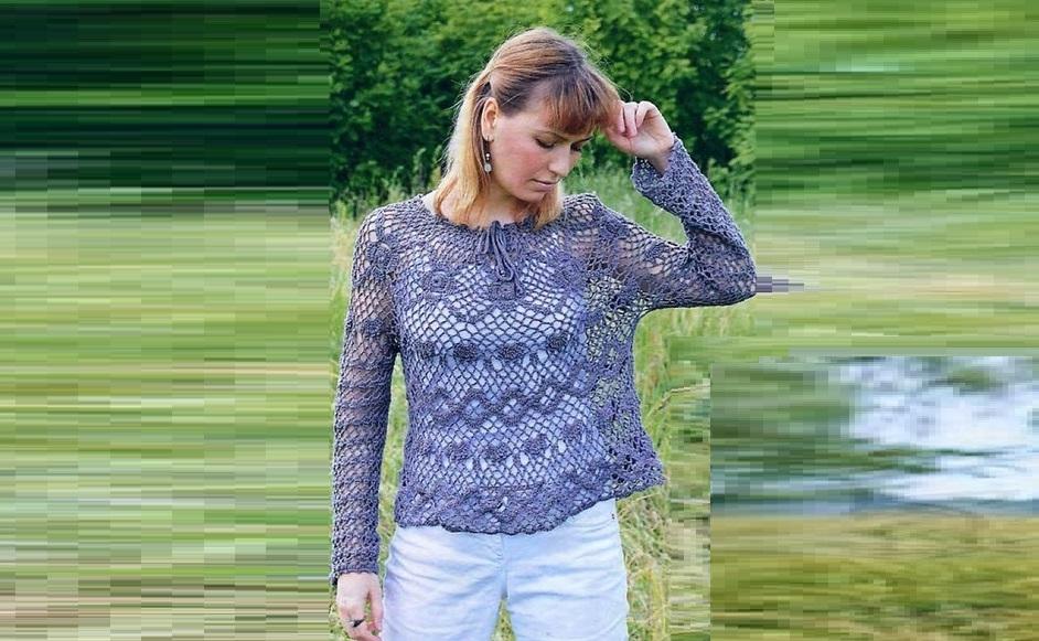 Пуловер в графитовом цвете