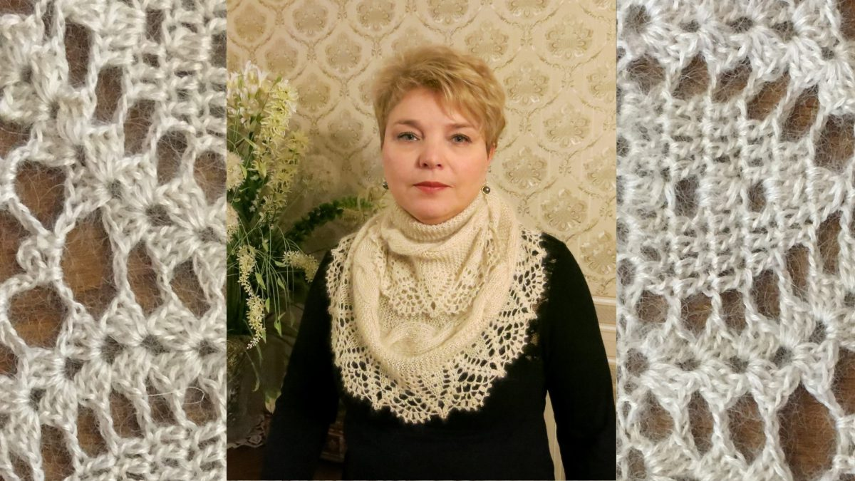 Нежный и романтичный  шарф — снуд