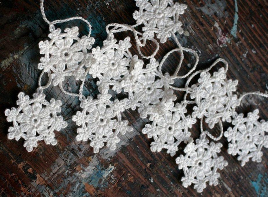 Вязаные снежинки крючком.Часть 7.