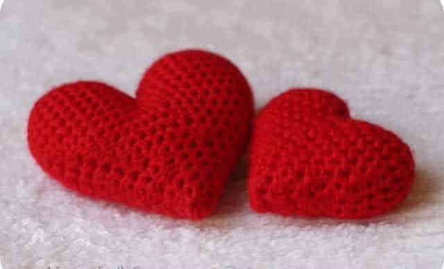 Мастер класс по вязанию объемного сердечка