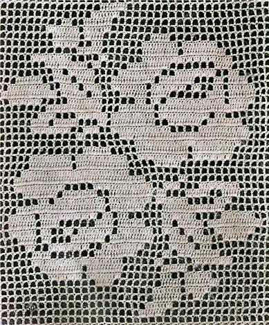 Филейное вязание – Розы – схемы №1