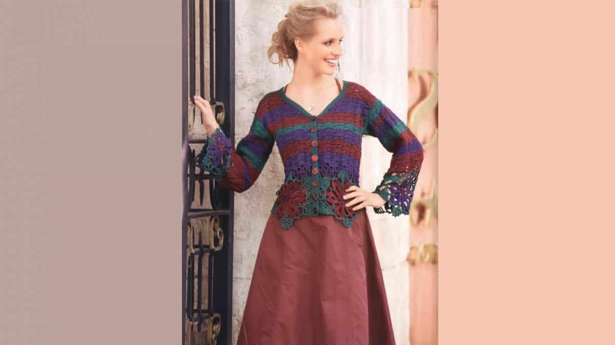 Жакет с кружевными цветами