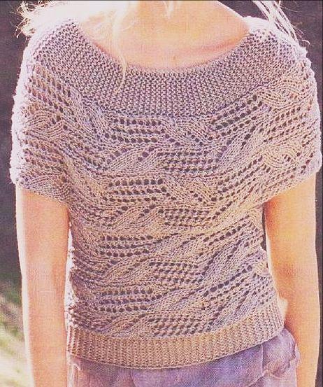 вязаная блузка
