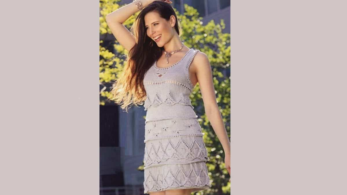 Платье-сарафан воланами