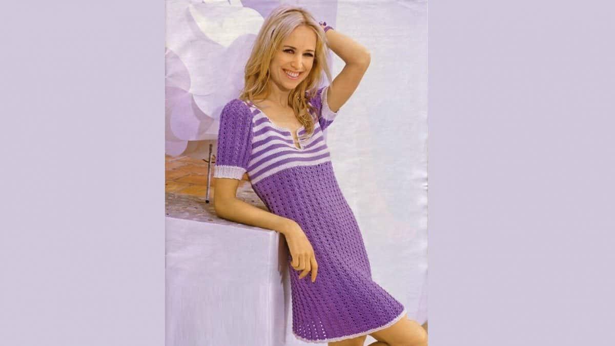 Платье с полосатым верхом